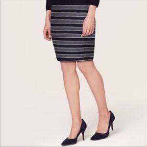Loft Striped Pencil Skirt
